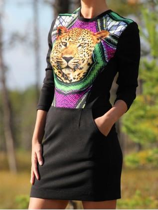 "FW'15 ""ZAFRAN tunnusmustriga kleit"""